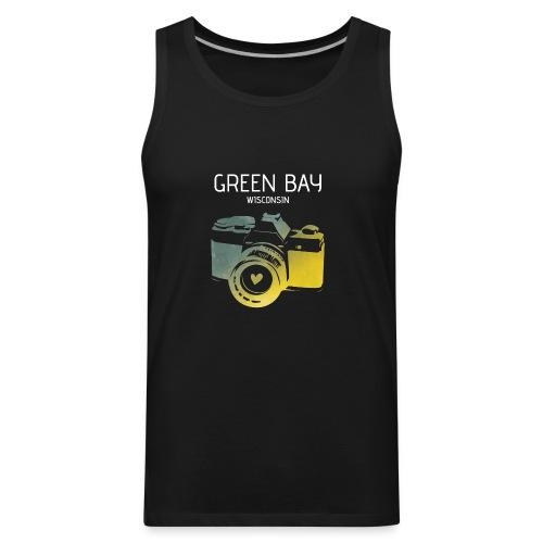 Green Bay camera with heart - Men's Premium Tank