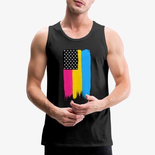 Pansexual Pride Stars and Stripes - Men's Premium Tank
