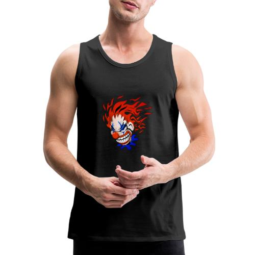 Psycho Crazy Clown Cartoon - Men's Premium Tank