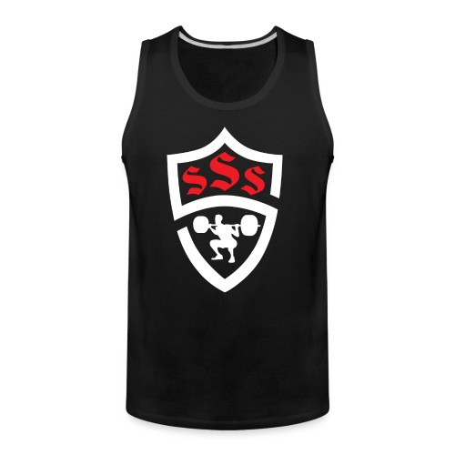 Logo Only White and Red - Men's Premium Tank
