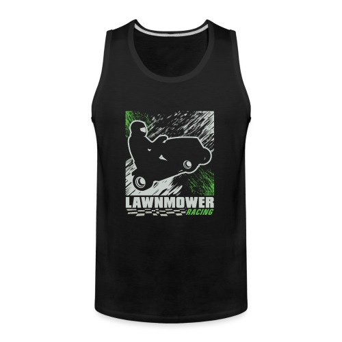 Lawnmower Racing Abstract - Men's Premium Tank