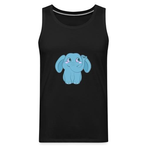 Baby Elephant Happy and Smiling - Men's Premium Tank