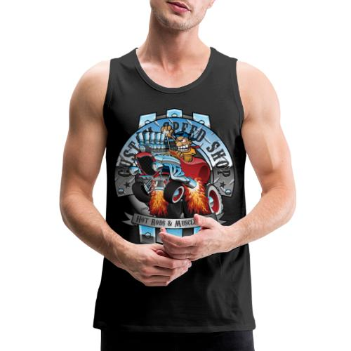 Custom Speed Shop Hot Rods and Muscle Cars Illustr - Men's Premium Tank