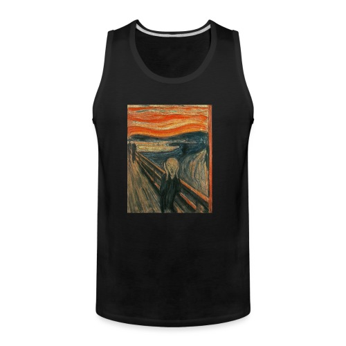 The Scream (Textured) by Edvard Munch - Men's Premium Tank