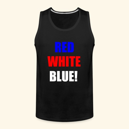 red white blue OCD - Men's Premium Tank