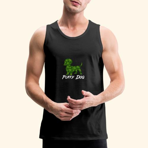 PUFFY DOG - PRESENT FOR SMOKING DOGLOVER - Men's Premium Tank
