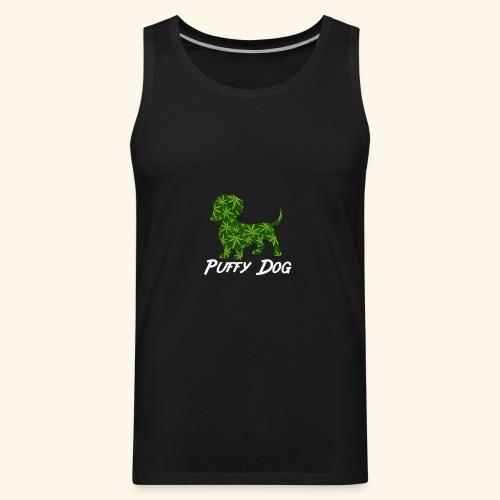 PUFFY DOG - PRESENT FOR SMOKING DOGLOVER - Men's Premium Tank