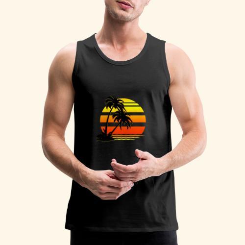 Summer Surfer California Sunset - Men's Premium Tank