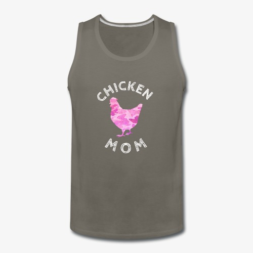 Chicken Mom Shirt Farm Gift - Men's Premium Tank