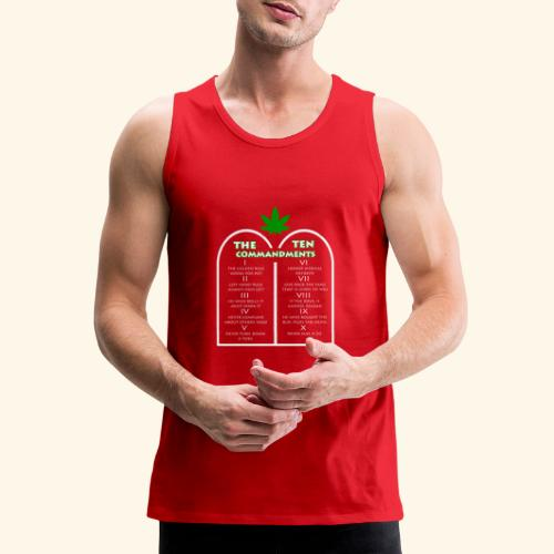 The Ten Commandments of cannabis - Men's Premium Tank