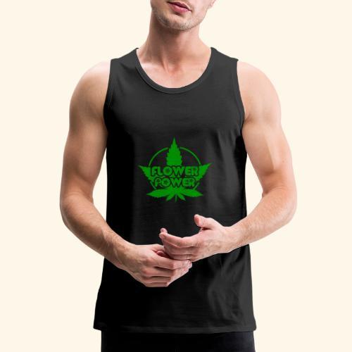 Flower Power Smoker - 420 Hippie Shirt men/women - Men's Premium Tank