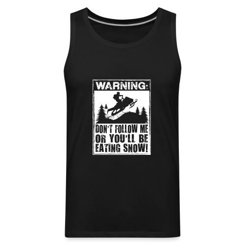 Snowmobile Warning - Men's Premium Tank
