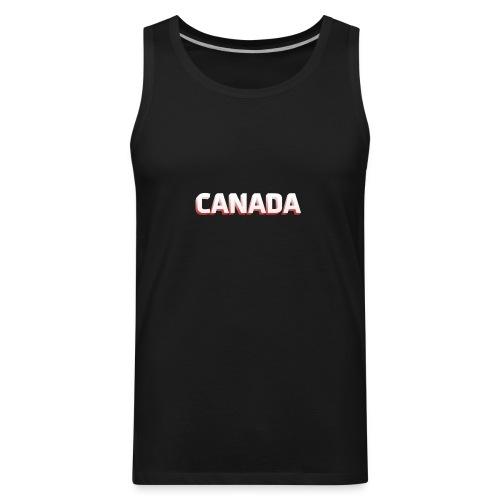 Simple Canada Text - Men's Premium Tank