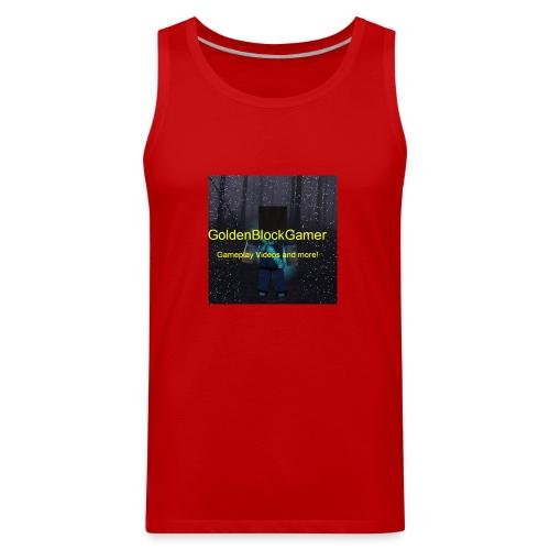 GoldenBlockGamer Tshirt - Men's Premium Tank