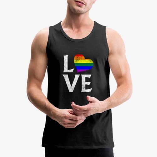 LGBTQ Pride Stacked Love - Men's Premium Tank