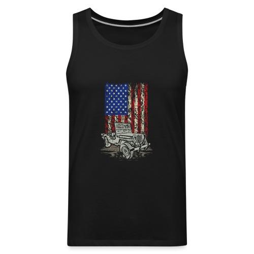 American Flag Wrangler - Men's Premium Tank