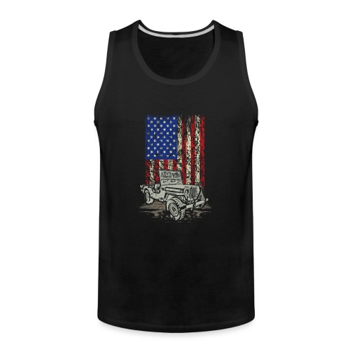 Jeep American Flag - Men's Premium Tank