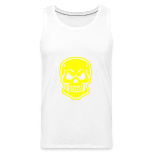 Skull vector yellow - Men's Premium Tank