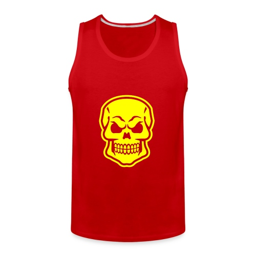 Skull vector yellow - Men's Premium Tank