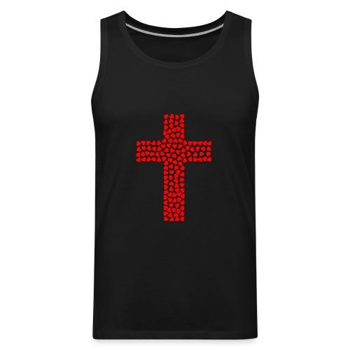 Jesus Love heart cross - Men's Premium Tank