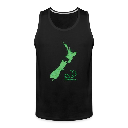 New Zealand's Map - Men's Premium Tank