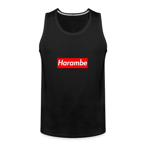 Harambe x Supreme Box Logo - Men's Premium Tank
