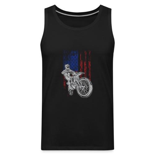 Motocross USA Race Rider - Men's Premium Tank