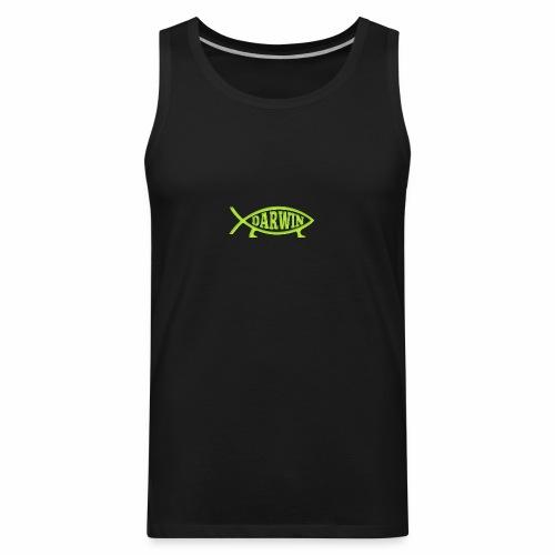 Darwin Fish - Green - Men's Premium Tank