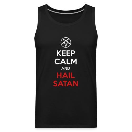 Keep Calm and Hail Satan - Men's Premium Tank