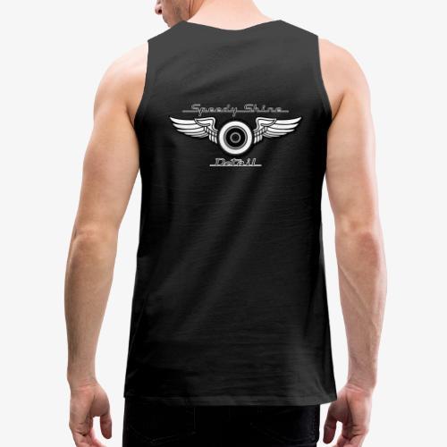Black Speedy Shine Detail Logo - Men's Premium Tank