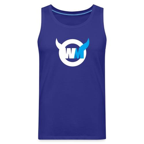 WTFMoses Logo white/blue - Men's Premium Tank