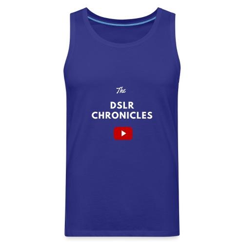 The DSLR Chronicles Tee (white letters) - Men's Premium Tank