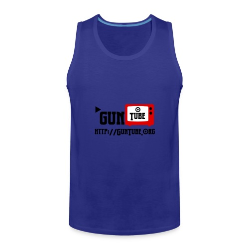GunTube Shirt with URL - Men's Premium Tank