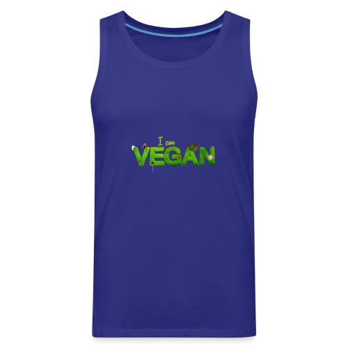 I am Vegan - Men's Premium Tank