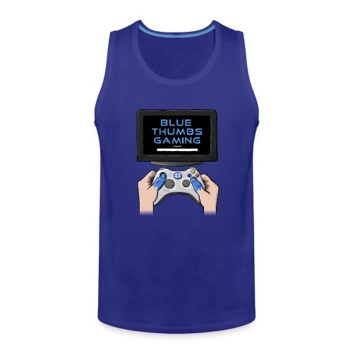 Blue Thumbs Gaming: Gamepad Logo - Men's Premium Tank