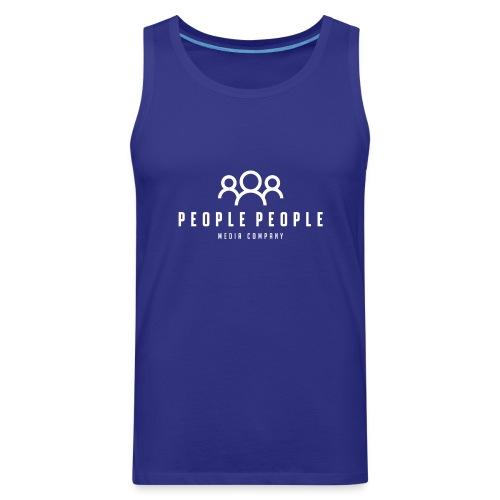 People People Media Co Logo White - Men's Premium Tank