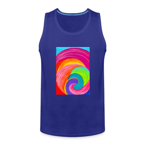 Colorful rainbow swirl - Men's Premium Tank