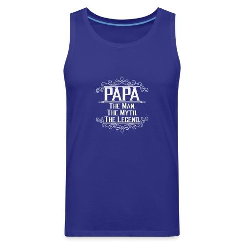 papa t shirt - Men's Premium Tank