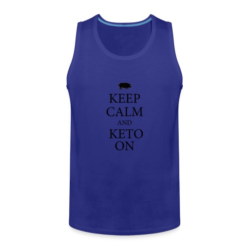 Keto keep calm2 - Men's Premium Tank