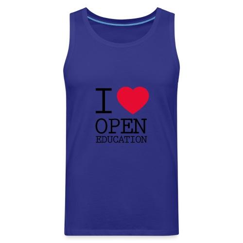 I Love Open Education - Men's Premium Tank