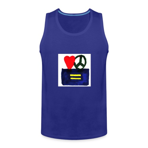 Peace, Love and Equality - Men's Premium Tank