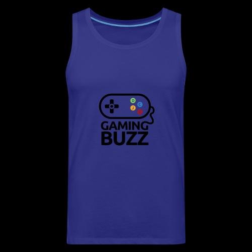 Gaming Buzz Logo - Black - Men's Premium Tank