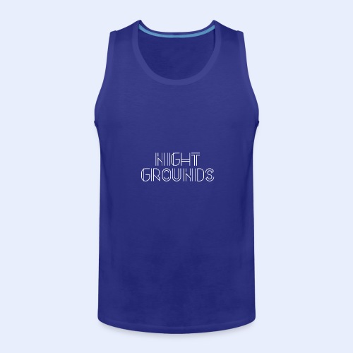 White NightGrounds Title - Men's Premium Tank