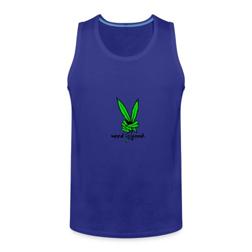 Marijuana Leaf Peace - Men's Premium Tank