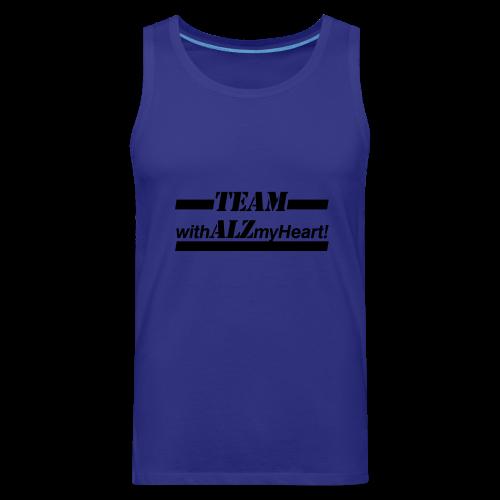 Team withALZmyHeart Logo Wear - Men's Premium Tank