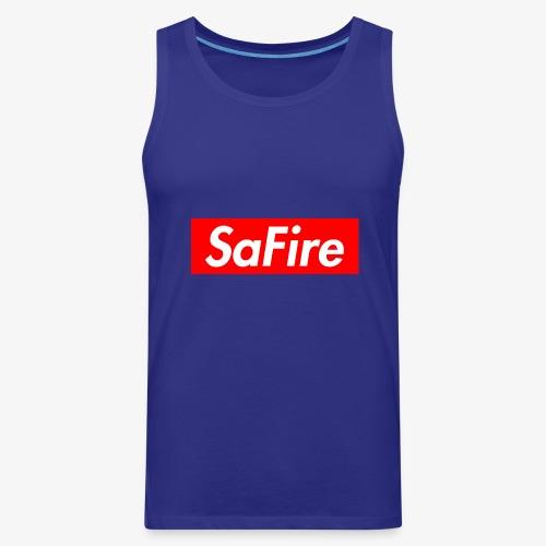 SaFire box logo tee - Men's Premium Tank