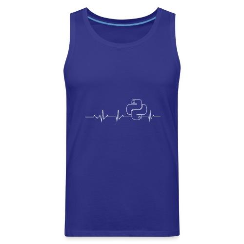 Python Heartbeat T-shirt Hoodie - Men's Premium Tank