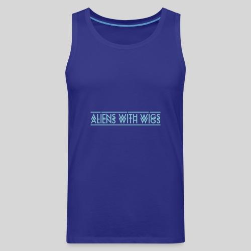 AliensWithWigs-Logo-Bleu - Men's Premium Tank