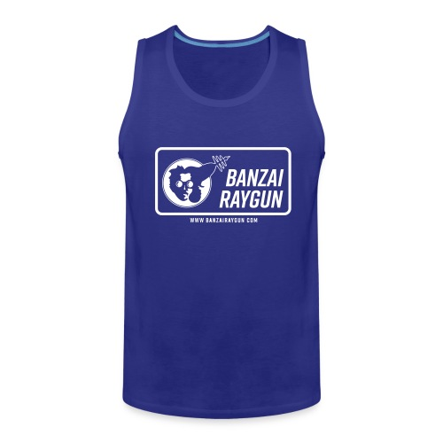 Banzai Raygun Rectangle Logo - Men's Premium Tank