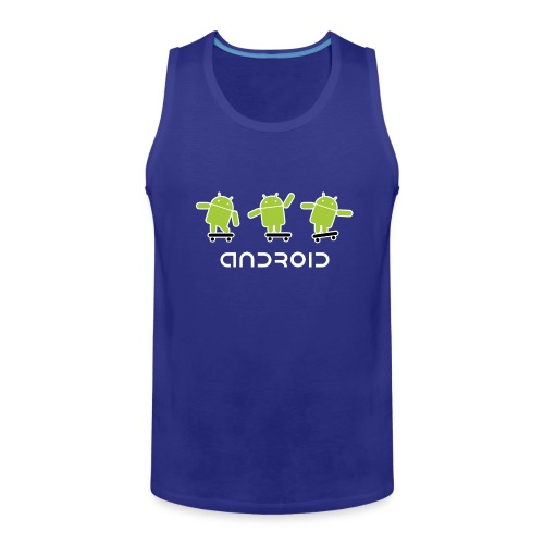 android logo T shirt - Men's Premium Tank